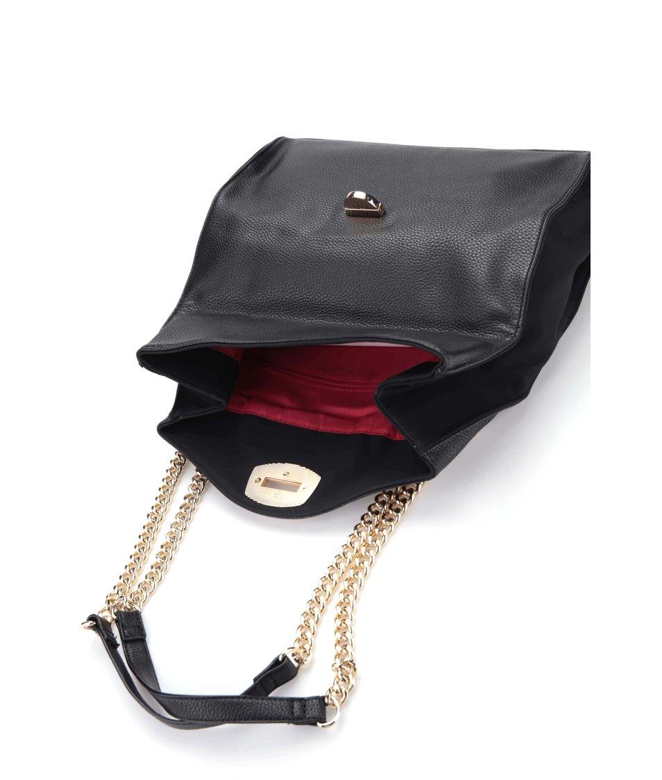 Černá menší kabelka s detaily ve zlaté barvě Dorothy Perkins