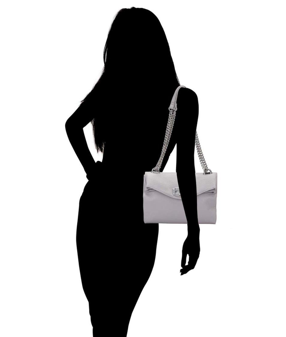Šedá menší kabelka s detaily ve stříbrné barvě Dorothy Perkins