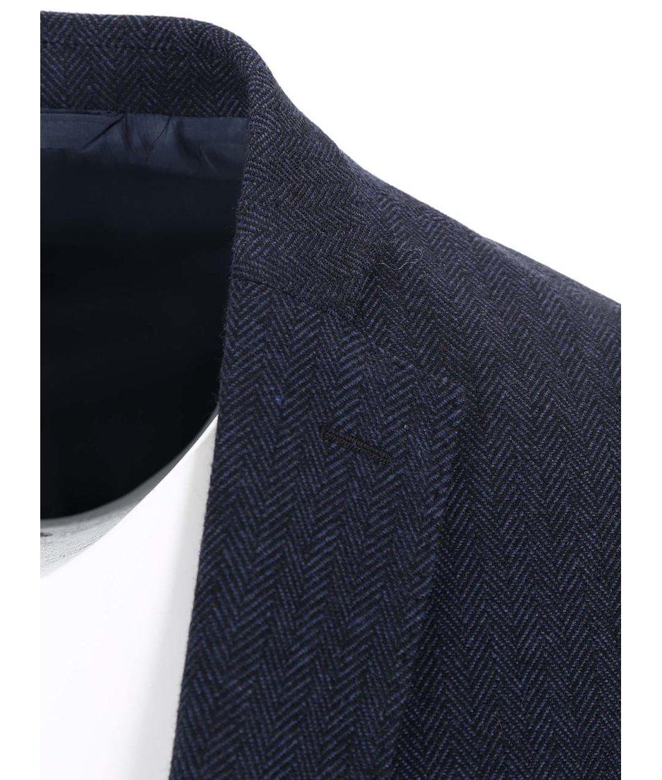 Tmavě modré žíhané sako J.Lindeberg Hopper