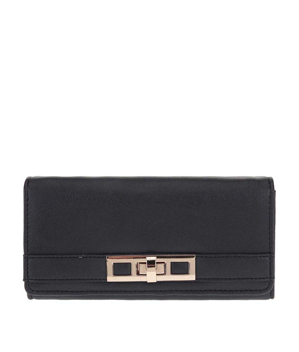Černá peněženka se zlatými detaily Dorothy Perkins