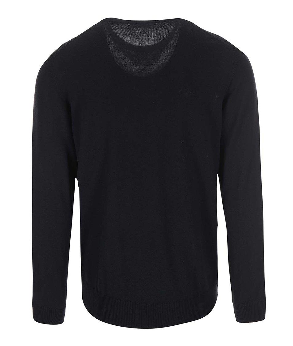 Černý svetr z Merino vlny J.Lindeberg Lyle