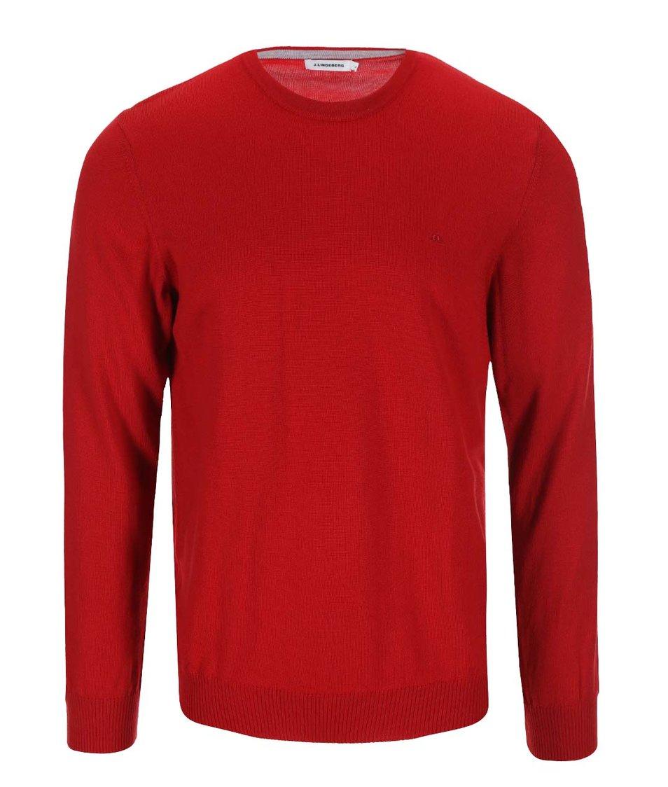 Červený svetr z Merino vlny J.Lindeberg Lyle