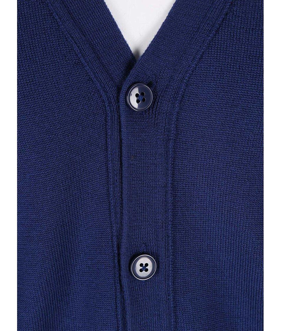 Tmavě modrý cardigan z Merino vlny J.Lindeberg Lymac