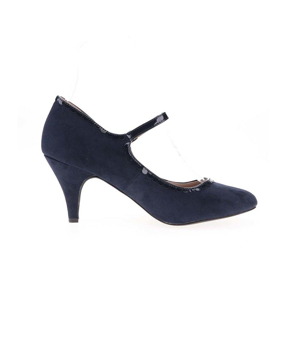 Tmavě modré nízké semišové lodičky Dorothy Perkins