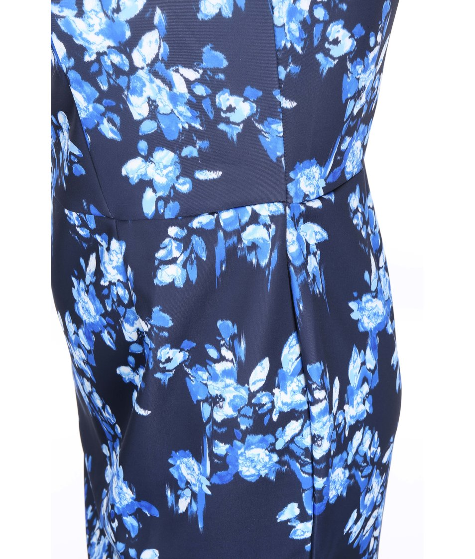 Tmavě modré šaty s květy Dorothy Perkins Curve