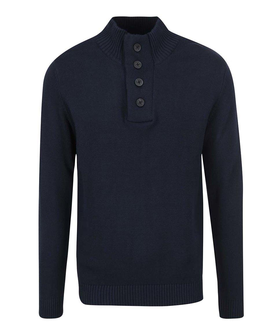 Tmavě modrý svetr s vyšším límcem Selected New View