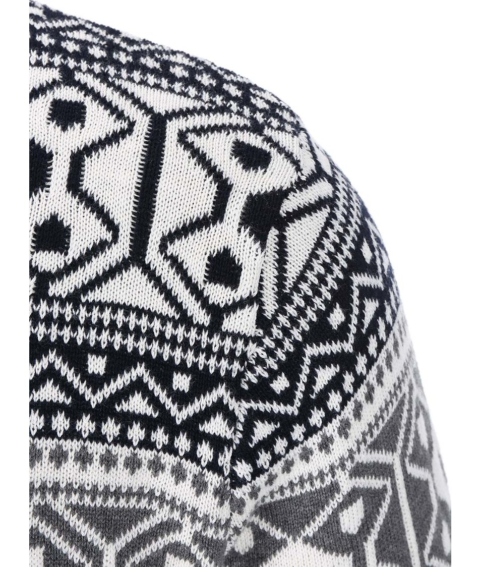 Šedo-krémový svetr s norským vzorem Jacks