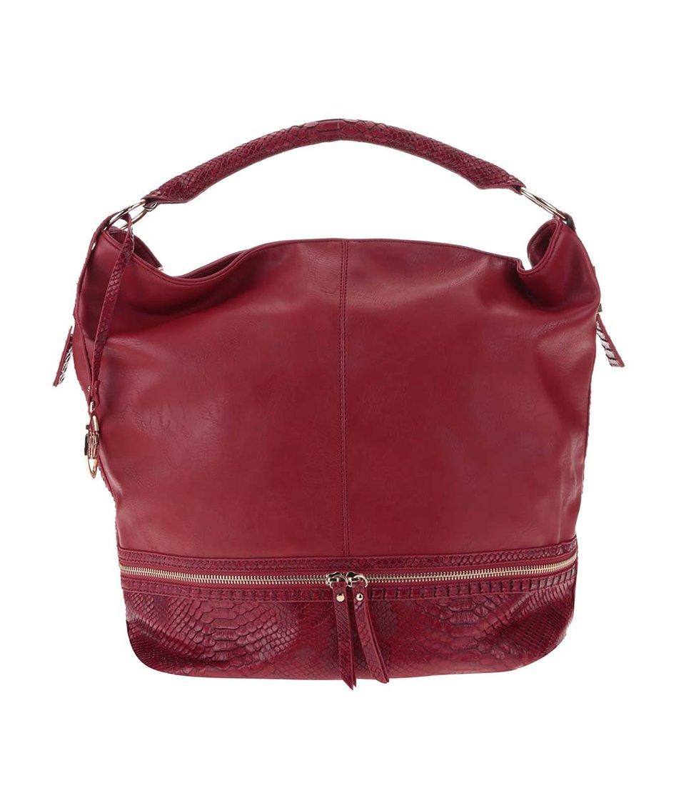 Červená kabelka s ozdobným zipem Key West