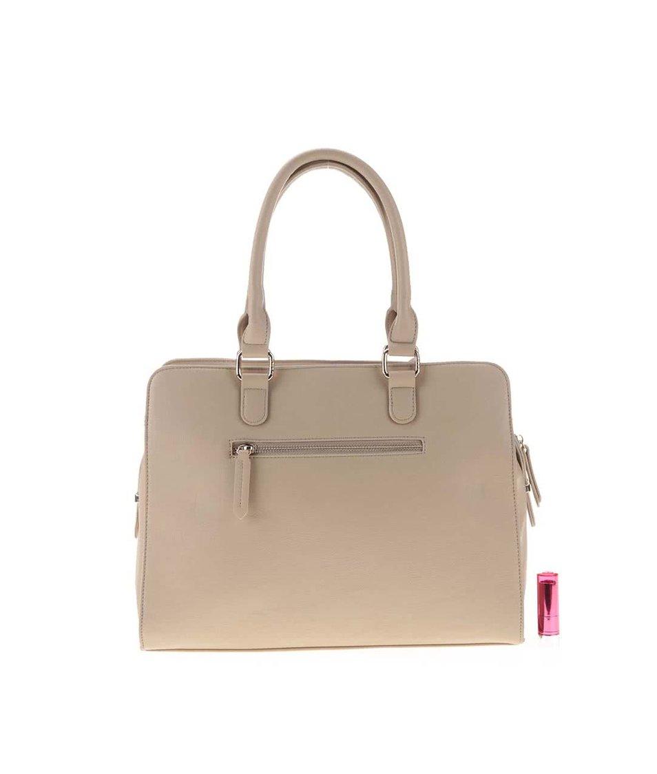 Béžová kabelka s plastickým vzorem LYDC