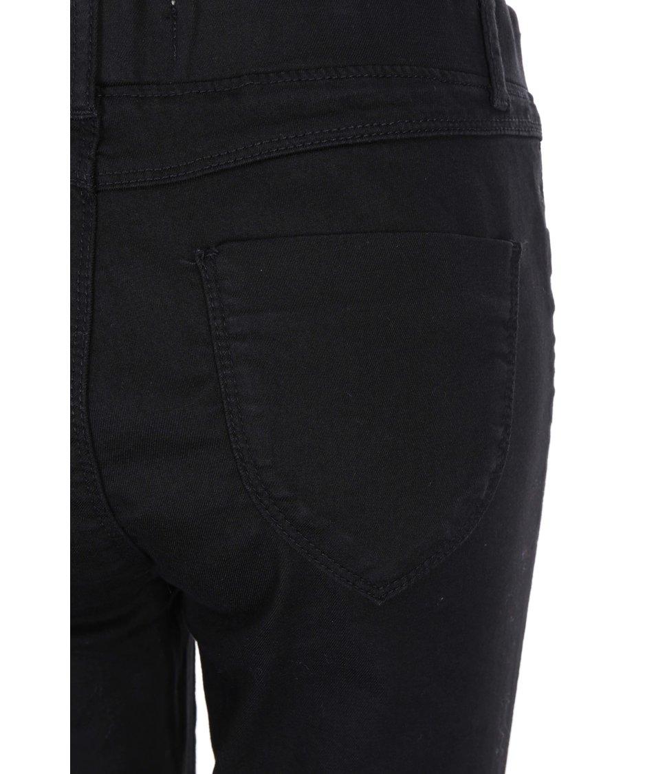 Černé strečové úzké kalhoty Dorothy Perkins