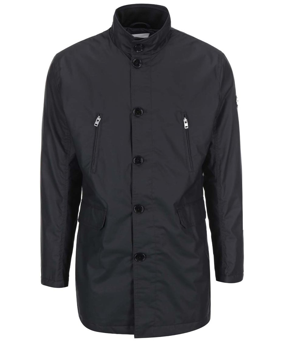 Černý kabát na zip J.Lindeberg Gavin