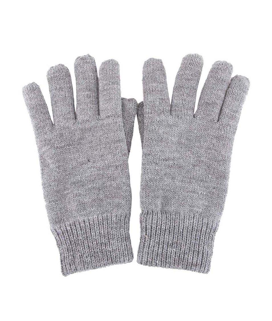 Šedé pletené rukavice Selected Jules