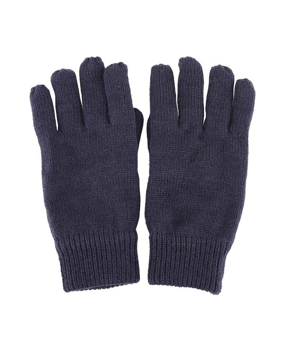 Tmavě modré pletené rukavice Selected Jules