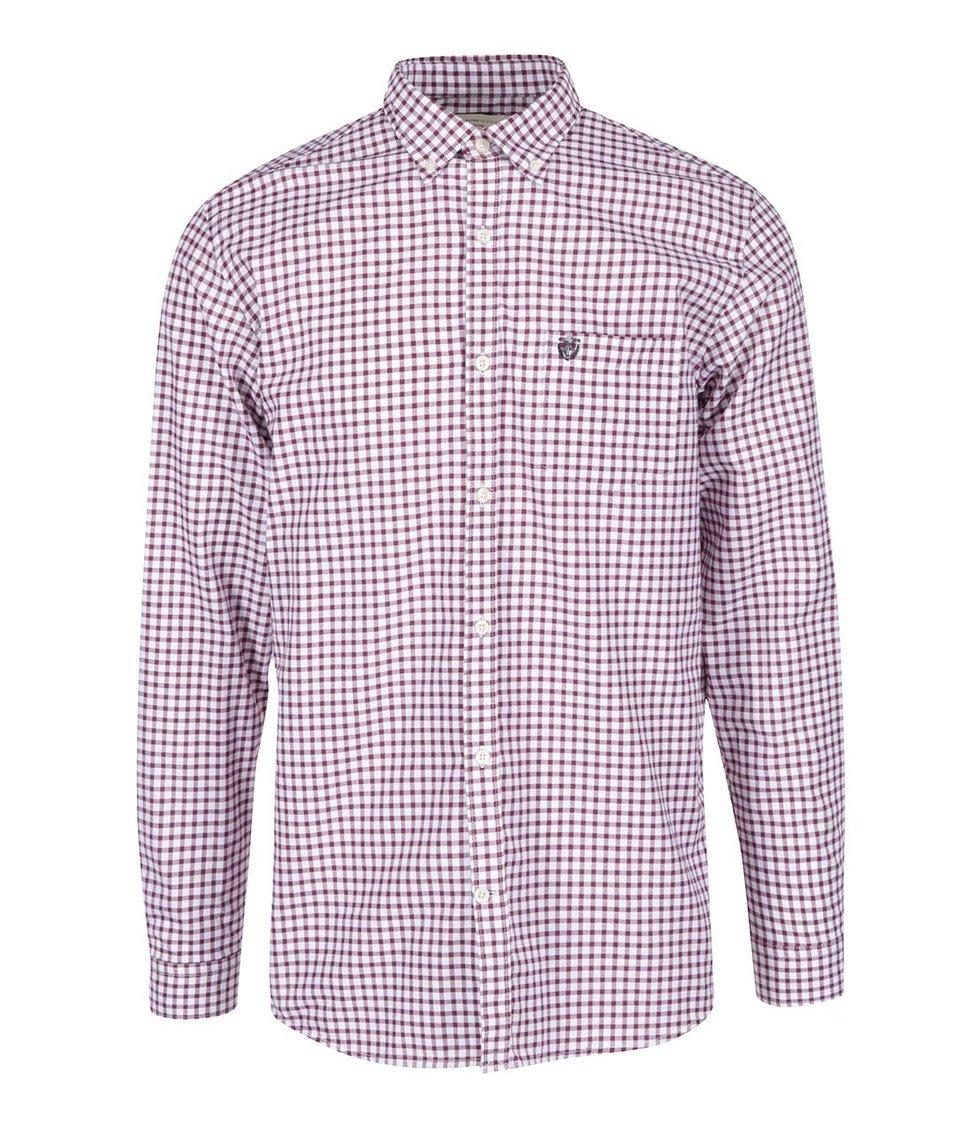 Bílo-vínová kostkovaná košile Selected Two Coll