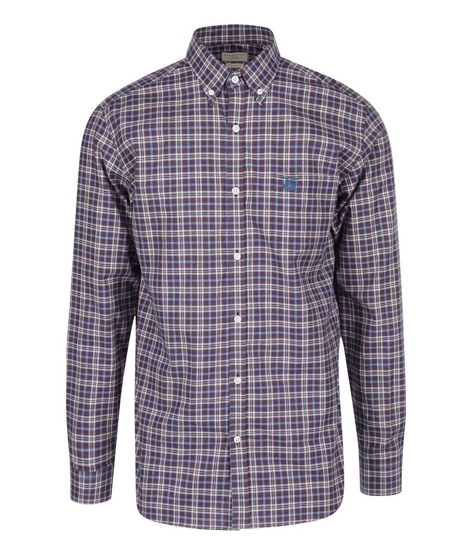 Modro-fialová kostkovaná košile Selected Two Cool Big