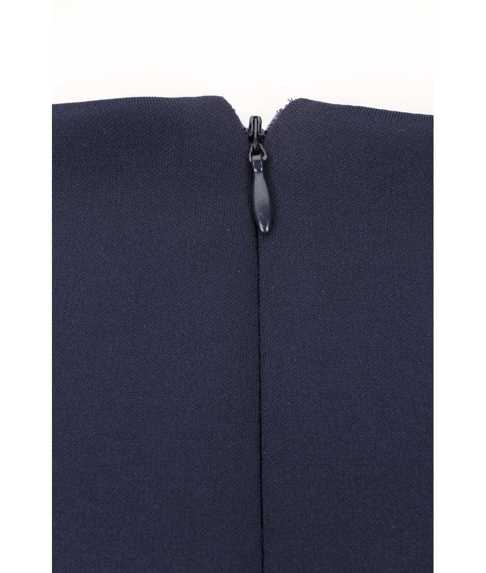 Tmavě modré lesklé šaty Dorothy Perkins Curve