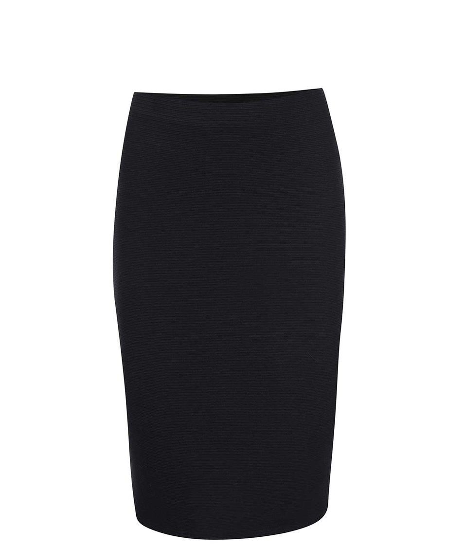 Černá delší vzorovaná sukně New Look