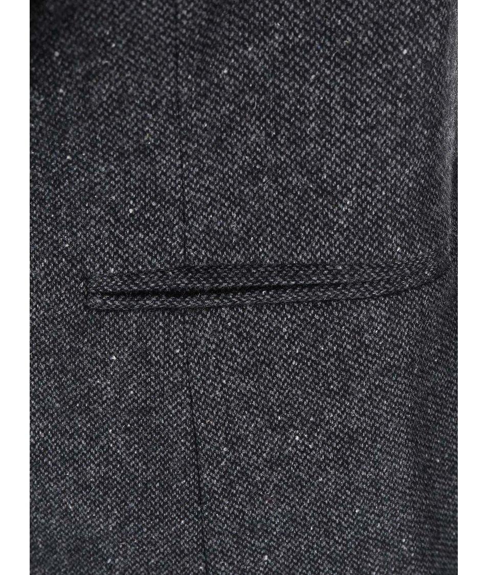 Šedé sako s umělým kožíškem New Look