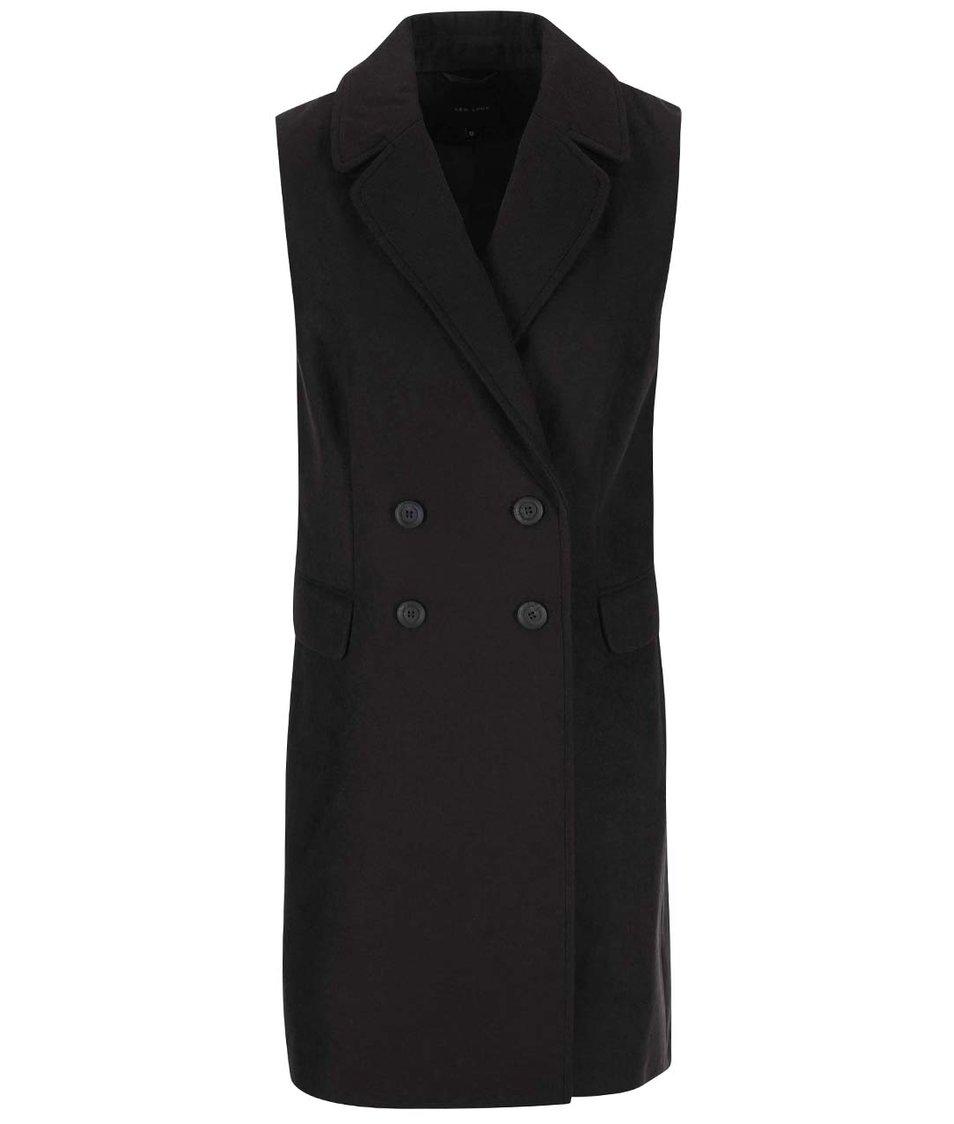 Černá kabátová vesta New Look