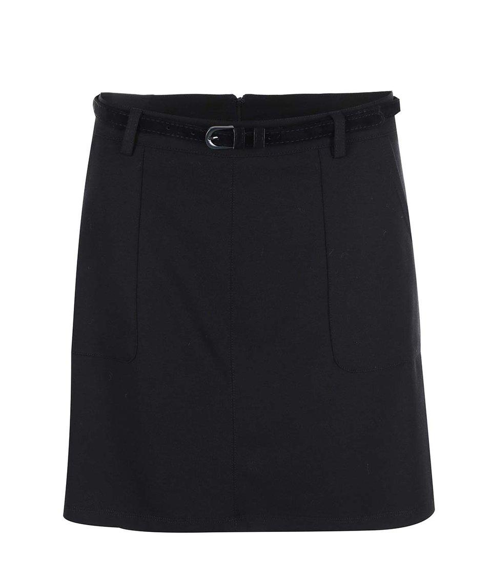 Černá sukně s páskem New Look