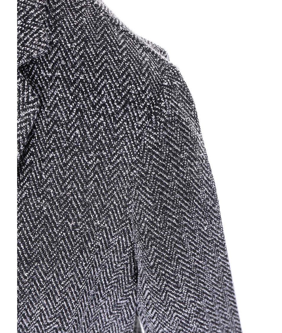Bílo-černé vzorované sako New Look