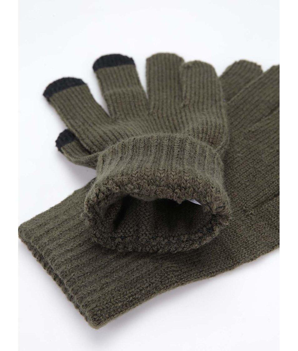 Zelené rukavice na dotykový displej ONLY & SONS Woom
