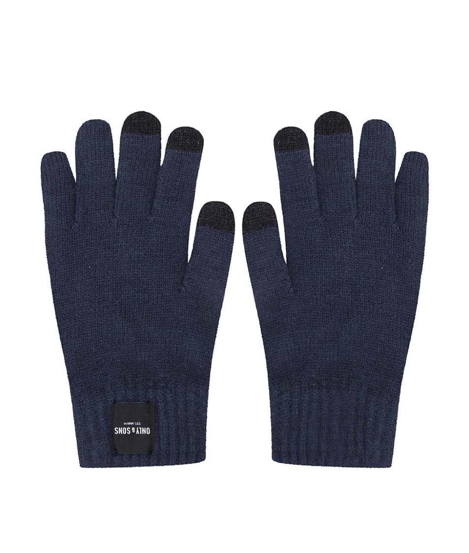 Modré rukavice na dotykový displej ONLY & SONS Woom
