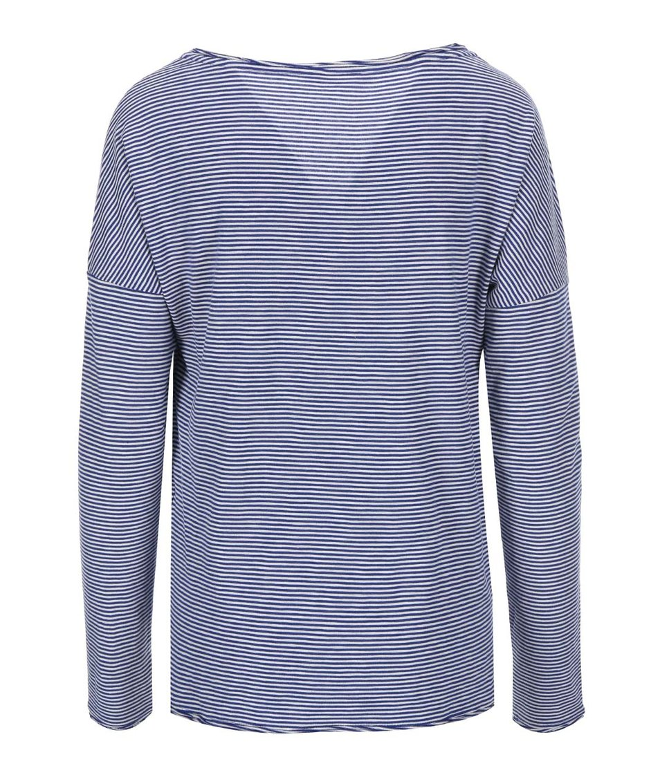 Modré pruhované tričko ONLY Ally