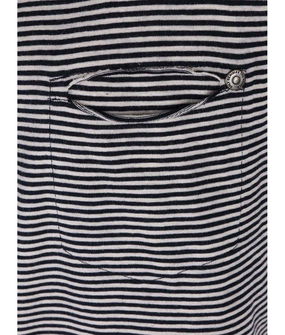 Tmavě modré pruhované tričko ONLY Ally