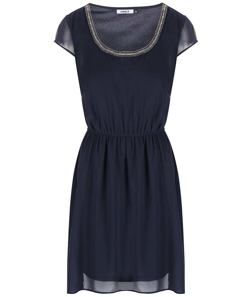 Tmavě modré šaty ONLY Brias Dafne