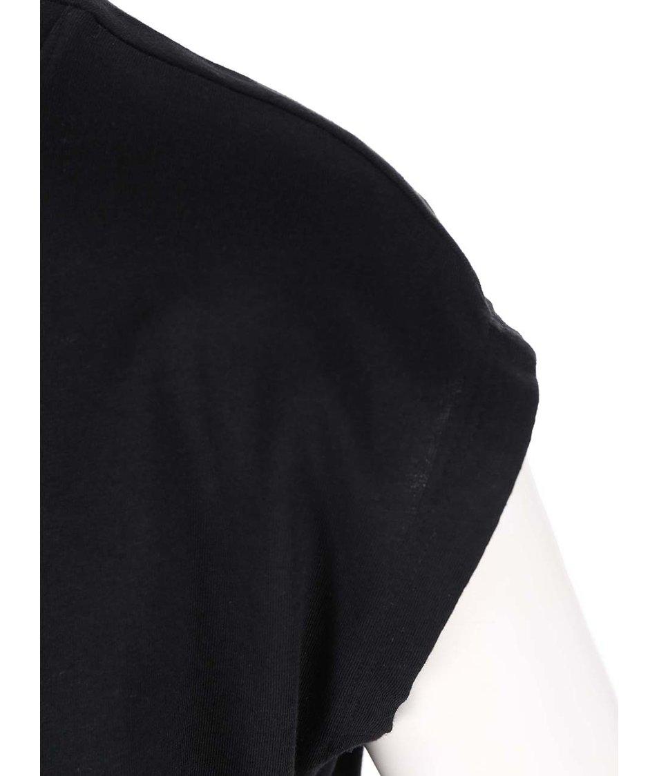 Černé tričko s potiskem ONLY Joli