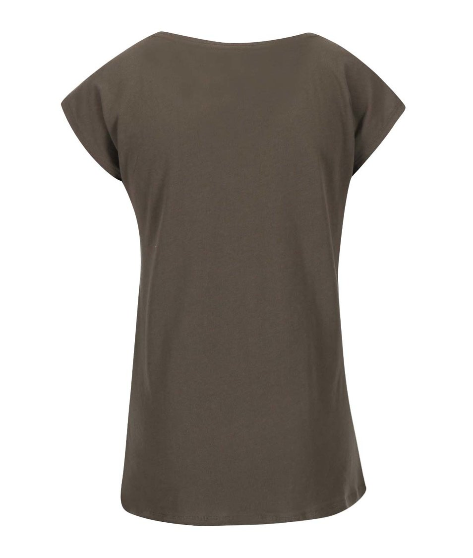 Khaki tričko s potiskem ONLY Joli