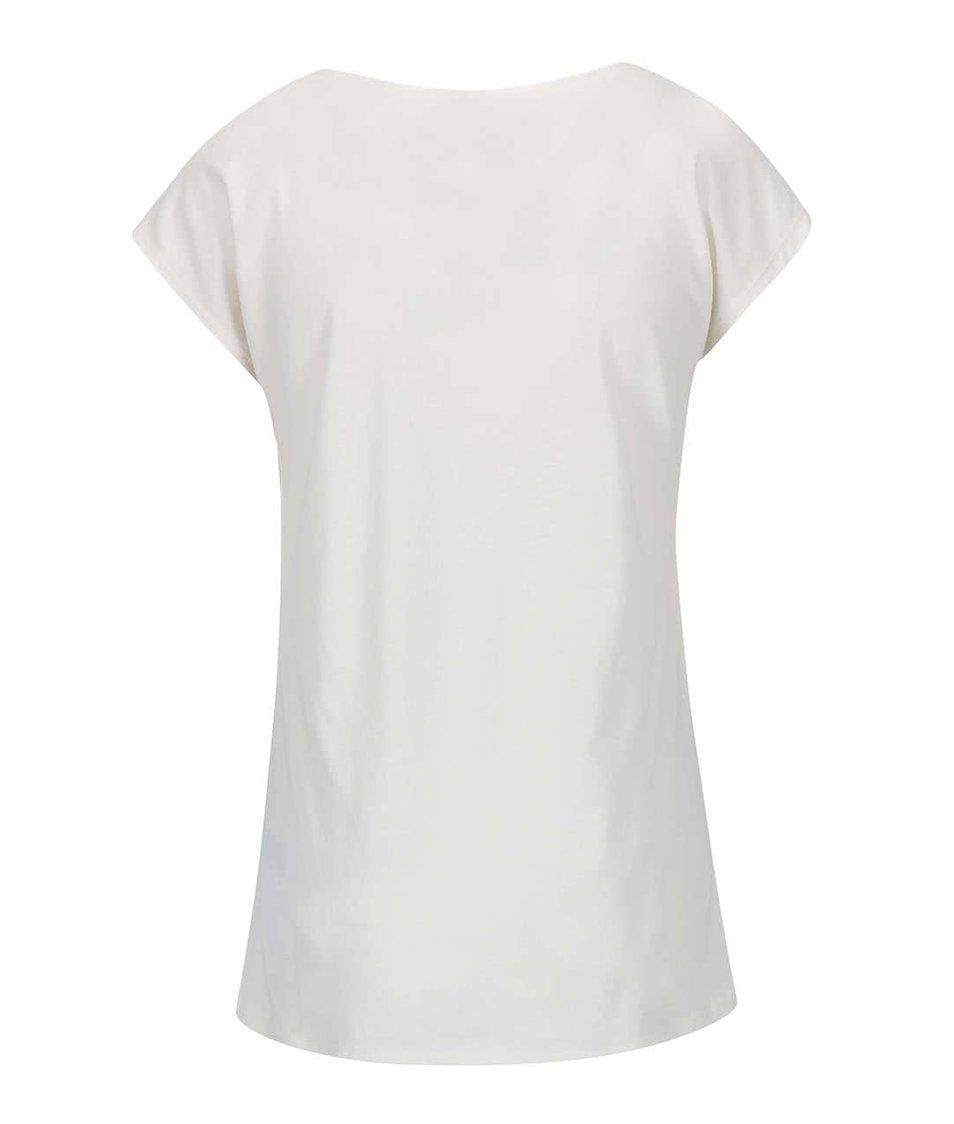 Krémové tričko s potiskem ONLY Joli