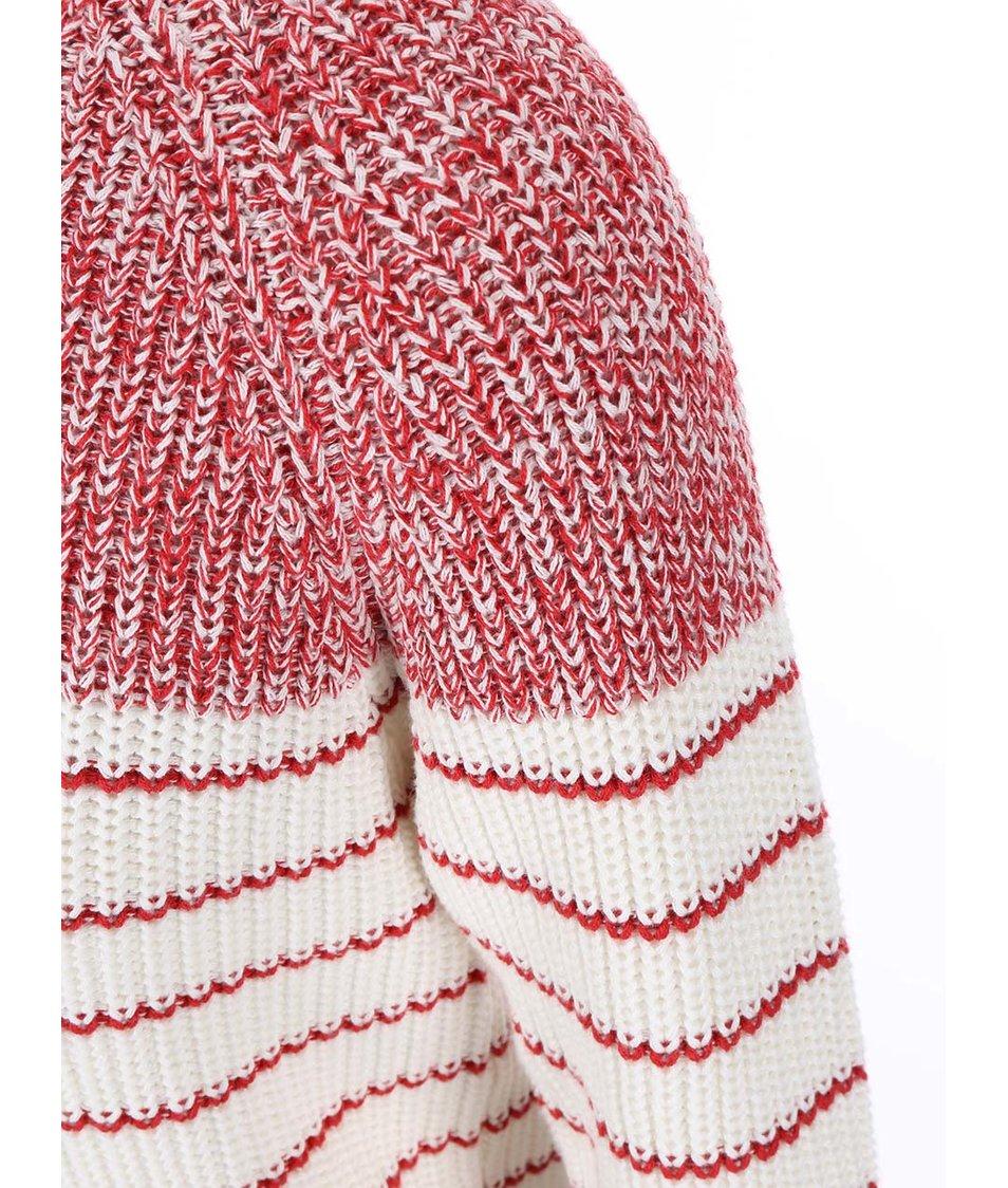 Bílo-červený svetr Vero Moda Zoey