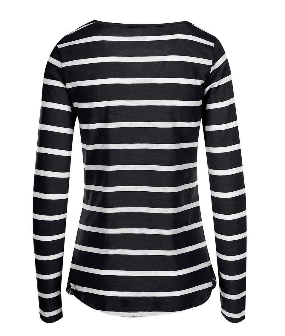 Bílo-černé pruhované tričko s dlouhým rukávem Vero Moda Hope