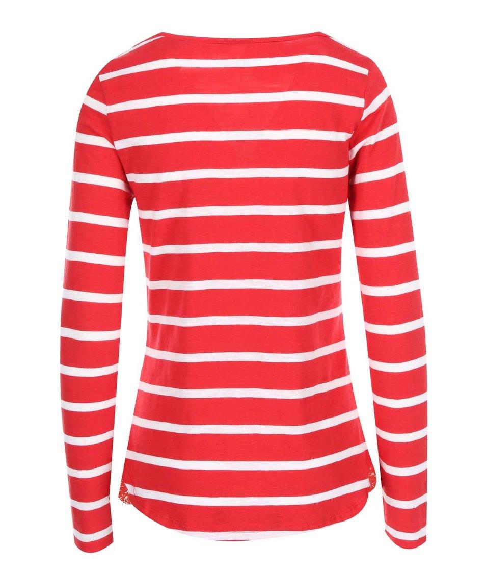 Bílo-červené pruhované tričko s dlouhým rukávem Vero Moda Hope