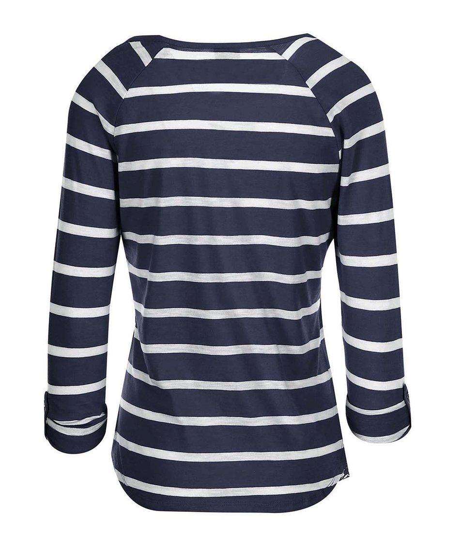 Bílo-modré pruhované tričko s 3/4 rukávy Vero Moda Hope