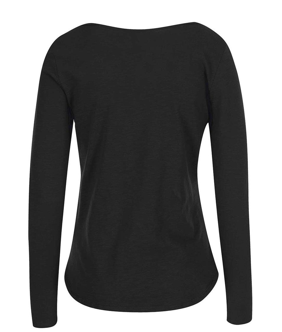 Černé tričko s dlouhým rukávem Vero Moda Hope