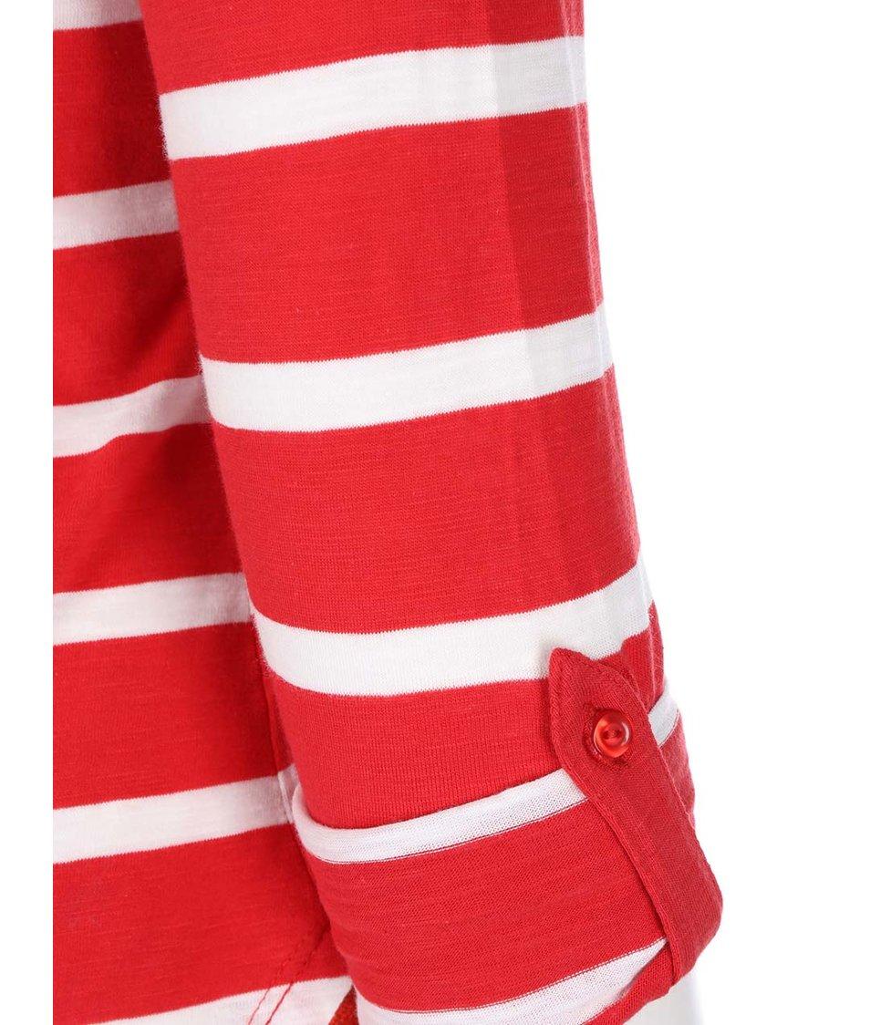 Bílo-červené pruhované tričko s 3/4 rukávy Vero Moda Hope