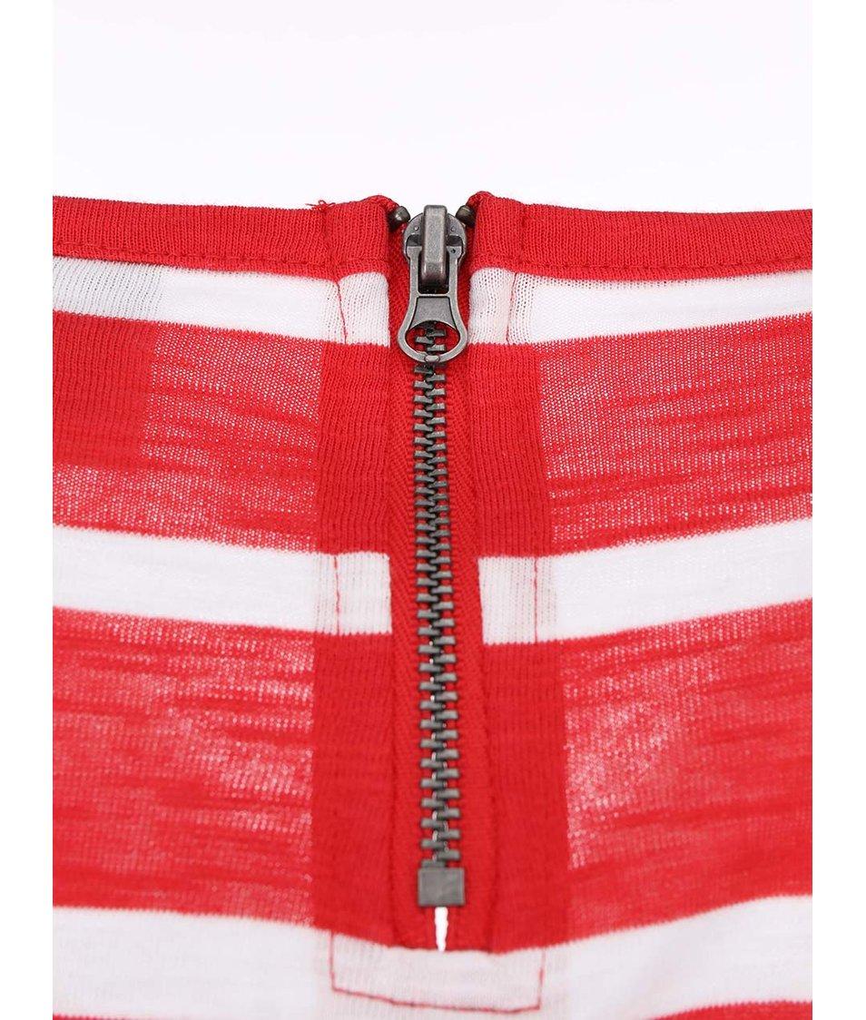 Bílo-červené pruhované tričko Vero Moda Hope