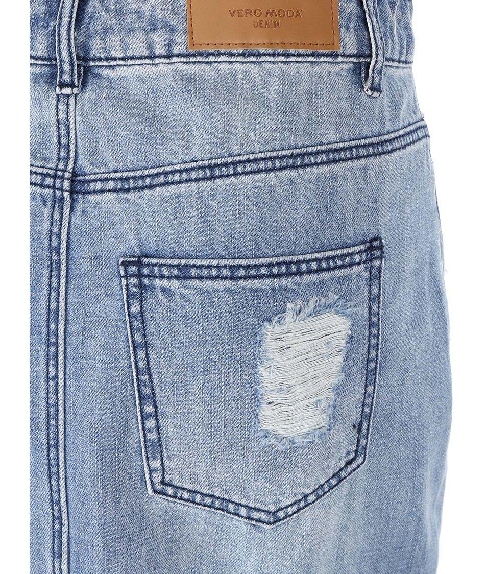 Modrá džínová sukně Vero Moda Selma