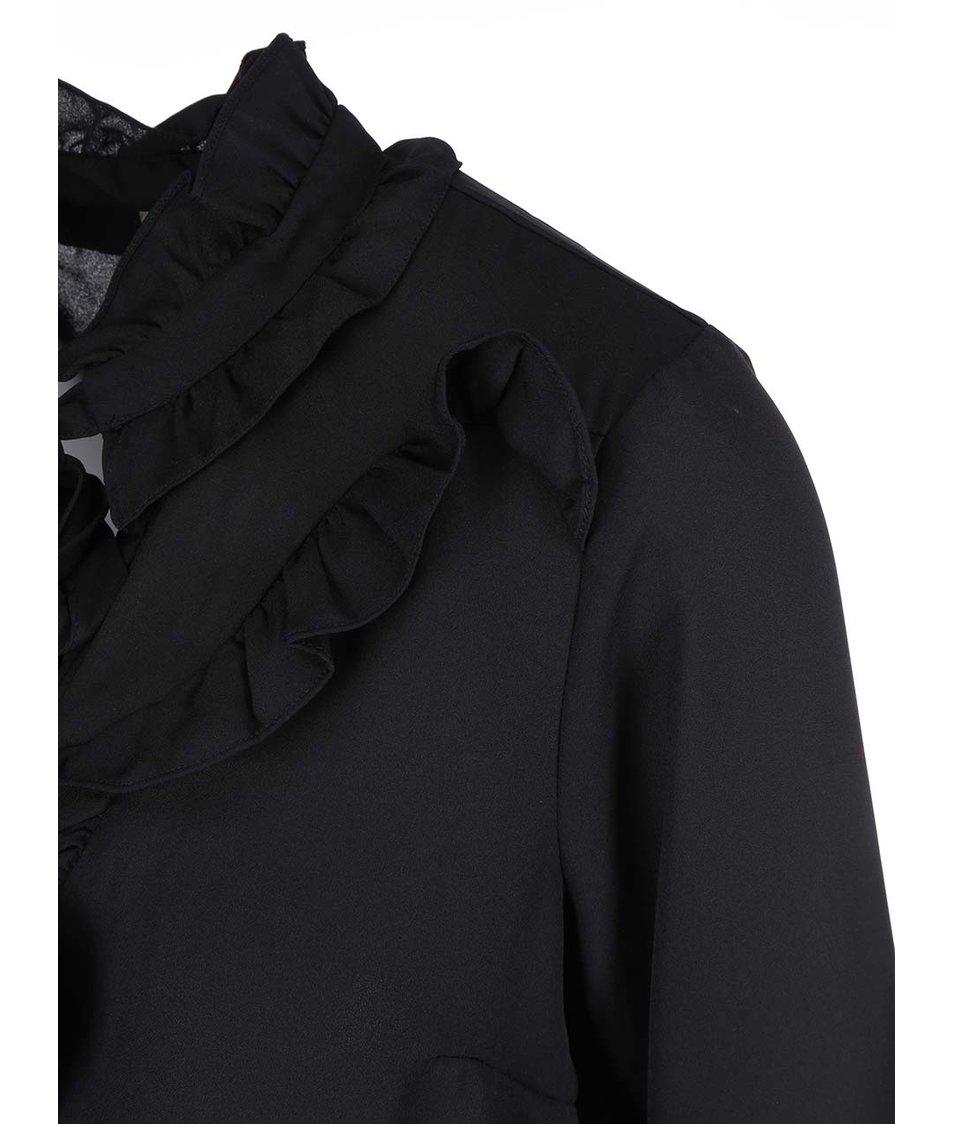 Černá halenka se zavazováním Vero Moda Click
