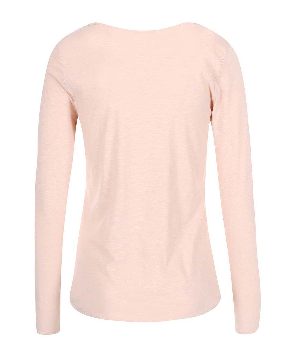 Světle růžové tričko s dlouhým rukávem Vero Moda Hope