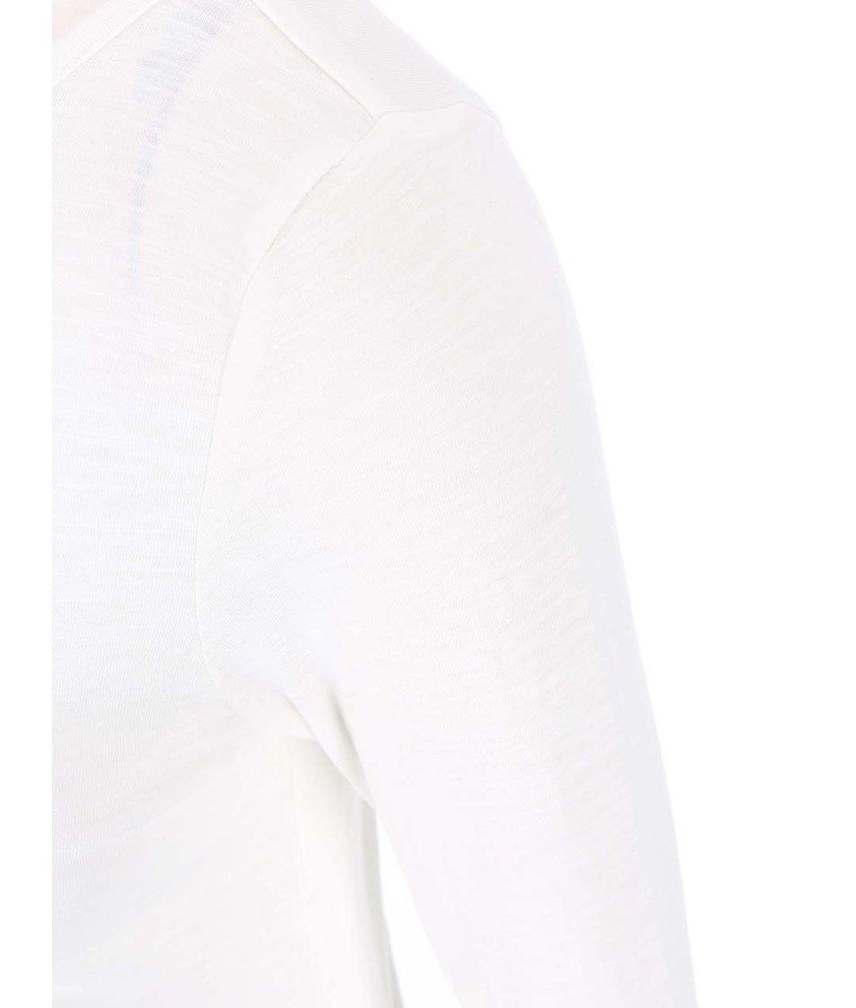 Bílé tričko s dlouhým rukávem Vero Moda Hope