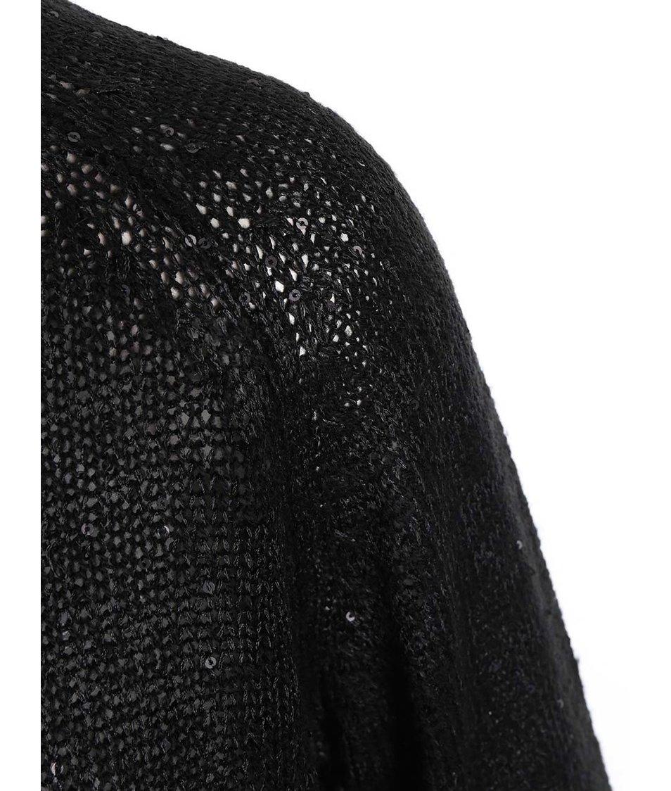Černý volnější svetr s flitry ONLY Adelyn