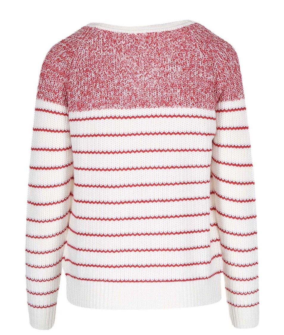Bílo-červený cardigan Vero Moda Zoey