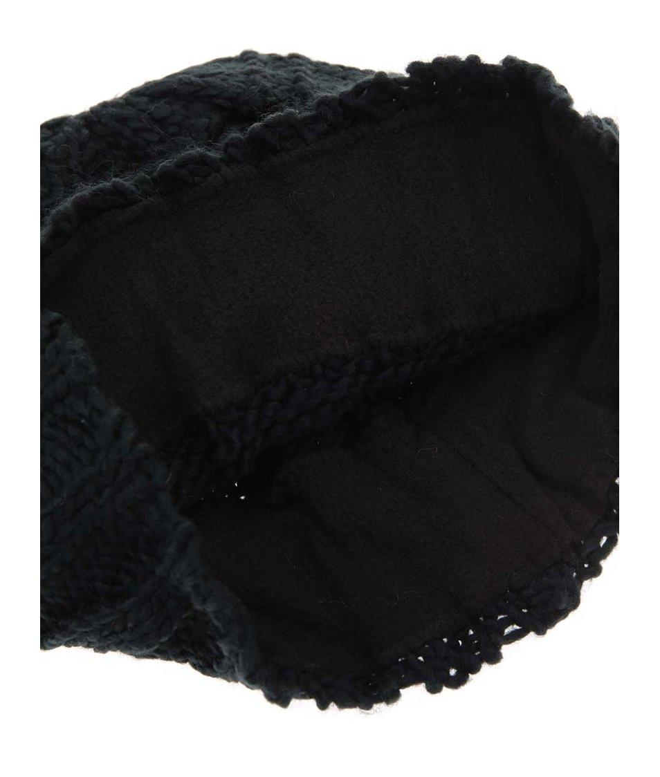 Černá pletená čepice Haily´s Strickmütze