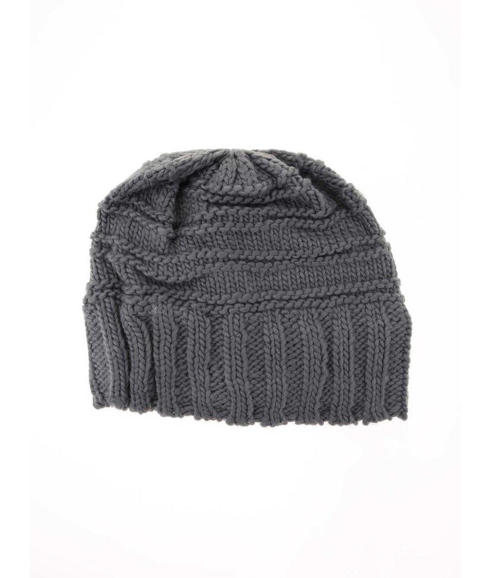 Šedá pletená čepice Haily´s Strickmütze