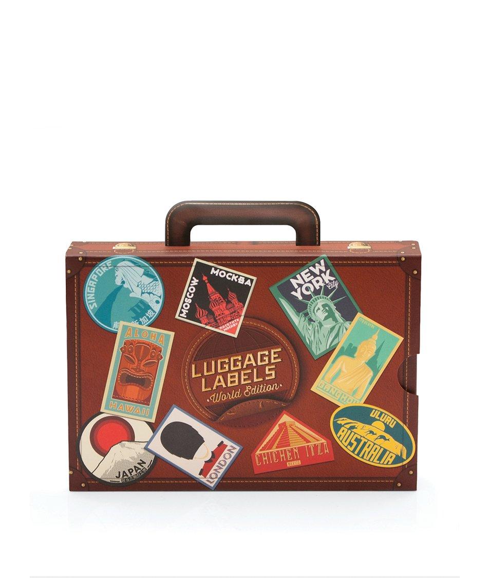 Sada 17 cestovatelských samolepek Luckies