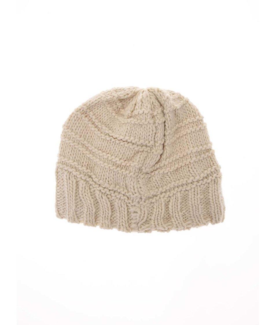 Béžová pletená čepice Haily´s Strickmütze